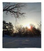 Early January Winter Sunrise Fleece Blanket