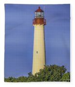 Early Light At Cape May Lighthouse Fleece Blanket