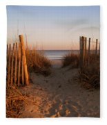Early Morning At Myrtle Beach Sc Fleece Blanket