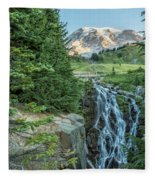 Early Morning At Myrtle Falls Fleece Blanket