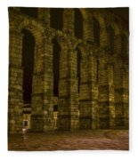 Early Morning At The Aqueduct Of Segovia Fleece Blanket