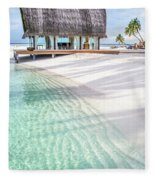 Early Morning At The Maldivian Resort 1 Fleece Blanket