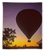 Early Morning Balloon Ride Fleece Blanket