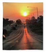Early Morning Commute Fleece Blanket