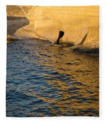 Early Morning Gold At Valletta Fortifications Fleece Blanket