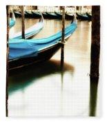 Early Morning Gondolas Fleece Blanket