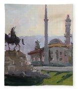 Early Morning In Tirana Fleece Blanket