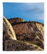 Early Morning In Zion Canyon Fleece Blanket