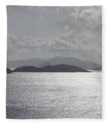 Early Morning Island View Fleece Blanket