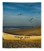 Early Morning Ocean City Nj Fleece Blanket