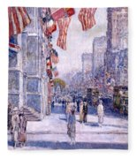 Early Morning On The Avenue In May 1917 - 1917 Fleece Blanket