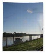 Early Morning On The Savannah River Fleece Blanket