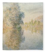 Early Morning On The Seine At Giverny Fleece Blanket