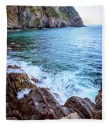 Early Morning Riomaggiore Cinque Terre Italy Fleece Blanket