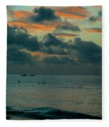 Early Morning Sea Fleece Blanket