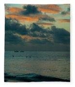 Early Morning Sea Fleece Blanket