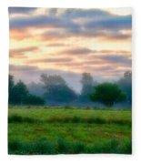 Early Morning Warmth Fleece Blanket