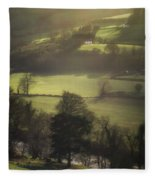 Early Morning Welsh Sheep Farming Fleece Blanket