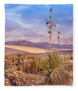 Early Morning Yucca - White Sands - New Mexico Fleece Blanket