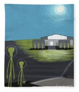 Early Painting Father And Son Aliens Fleece Blanket