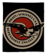 Early Pratt And Whitney Company Logo Fleece Blanket