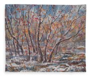 Early Snow. Fleece Blanket