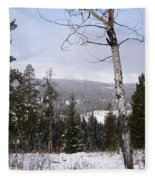 Early Snows In The Rockies Fleece Blanket
