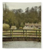 Early Spring In The Counties Fleece Blanket