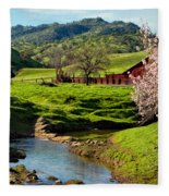Early Spring In The Valley Fleece Blanket