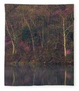 Early Spring Lake Shore Fleece Blanket