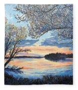 Early Spring Sunset Fleece Blanket