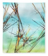 Early Spring Twigs Fleece Blanket