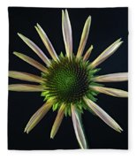 Early Stage Of Cone Flower Bloom Fleece Blanket