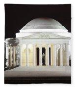 Early Washington Mornings - The Jefferson Memorial Fleece Blanket