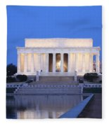 Early Washington Mornings - The Lincoln Memorial Fleece Blanket