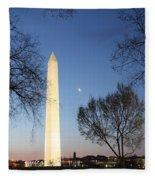 Early Washington Mornings - The Washington Monument Fleece Blanket