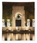 Early Washington Mornings - World War II Memorial - Pacific Theater Fleece Blanket