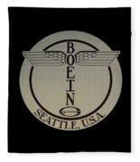 Early Winged Boeing Logo Fleece Blanket