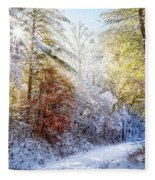 Early Winter's Walk Fleece Blanket