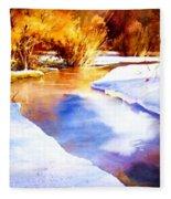 Early Wyoming Snow Fleece Blanket
