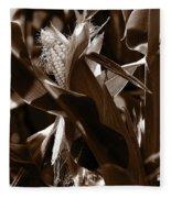 Ears To You Corn - Sepia Fleece Blanket