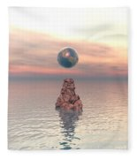 Earth Above The Sea Fleece Blanket