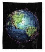 Earth And Space Fleece Blanket