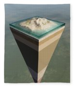 Earth Core Structure Cut-away Fleece Blanket