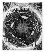 Earth: Cross-section, 1664 Fleece Blanket