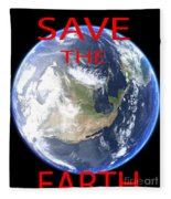 Save The Earth Fleece Blanket