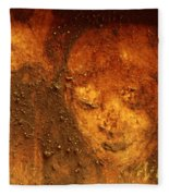 Earth Face Fleece Blanket