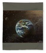 Earth From Above  Fleece Blanket