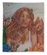 Earth Goddess Fleece Blanket