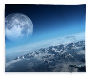 Earth Icy Ocean Aerial View Fleece Blanket